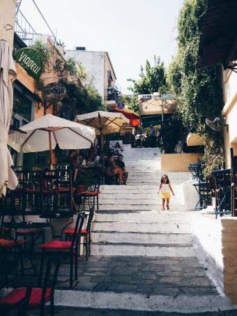 Yunanistan - Atina – Meşhur merdivenli sokaklar